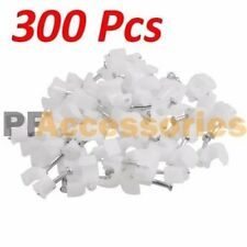 300 Assorted Size Single Nail Cable Clips White for RG6 Coax Wire Ethernet Cable