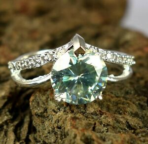 Rare 5.41 Ct White Diamond Solitaire Halo Gorgeous Ring Ideal Engagement Gift