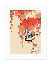 JAPAN BIRD IVY BERRY SHOSON OHARA Painting Nature Canvas art Prints