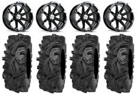 "MSA Black Diesel 14"" ATV Wheels 32"" Mudda Inlaw Tires Can-Am Renegade Outlander"