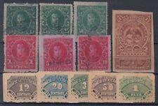 F-EX5062 MEXICO REVENUE  LOT DOCS + EDUCATION 1890-91-93 1c,2c,5c,10c,25c,50c,1$