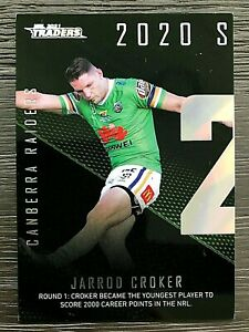 2021 NRL TRADERS '2020 SEASON TO REMEMBER' TRADING CARD - JARROD CROKER/RAIDERS