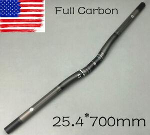 TOSEEK Carbon Bike Handlebar MTB Mountain Road Bicycle Riser Bar 25.4*580-620mm