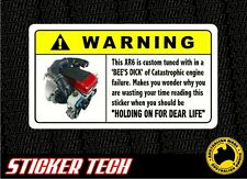WARNING FORD FALCON TURBO XR6 ENGINE TUNE STICKER DECAL SUITS BA BF FG AU XR6T