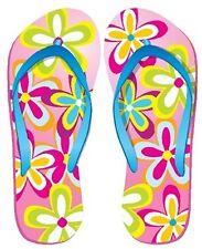 Pink Flower Flip Flop Sandals cornhole board game vinyl graphic decals