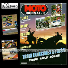MOTO JOURNAL N°721 YAMAHA XJ 650 T TURBO, HARLEY 1100 SPORTSTER, SIDE-CAR DOMANI