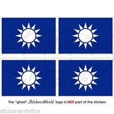 "Taiwán Naval Jack Roc taiwanés Navy Bandera 50mm (2 "") Vinilo Stickers, Calcomanías X4"