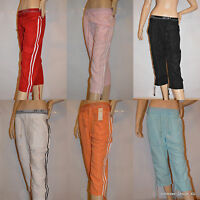 Damen 3/4 Capri Leggings Leggins Baumwolle Hose SEXY Sporthose S M L XL XXL XXXL