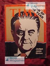TIME January 7 1974 Jan 1/7/74 MAN OF THE YEAR JUDGE JOHN SIRICA (Watergate) +++