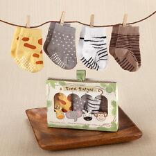 Sock Safari Jungle Animals Baby Sock Set Baby Shower Gift