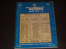 Vintage The Thoroughbred Record.April 27, 1974.Collectible.