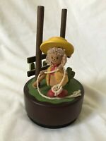 Vintage Hummelwerk Dans Kids Wood Wind-up Music Box Musical For the Good Times