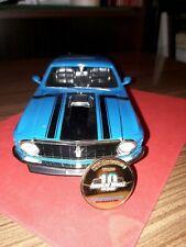 Modellauto Mustang 1970 1:18 blau Ertl