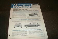 1975 FORD PINTO AND MAVERICK COMPACT MERCHANDISING NEWSFLASH BROCHURE SHEET RARE