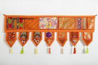 "Indian Patchwork Embroider Door Valances Toran Wall Hanging Home Decorative 80"""