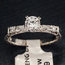 Tacori 2222 Diamond Platinum Engagement Ring Ladies Engraved Shank Delicate