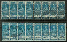 CANADA Revenue Electricity and Gas Inspection Stamps; 60c, $2, $3 & $10 #5596
