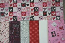 Yellow Brick Road Quilt Kit Valentines Day Hearts Red Pink Black Fabric 48x57