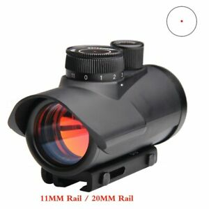 Red Dot Sight Scope Holographic 1 x 30mm 11mm & 20mm Weaver Rail Mount for