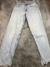 Vintage Levis 13560 Light Wash Distressed High Waisted Denim Jeans Made Usa Sz 5