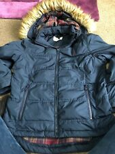 Ladies / Girls Size 6 Jack Wills Winter Coat With Fur Hood Detachable Warm