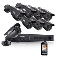 ZOSI 8CH HDMI DVR 1000TVL CCTV Überwachungskamera Außen Haus Überwachungssystem