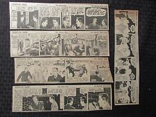 1935/36 Inspector Wade Newspaper Comic Strips by Edgar Wallace Vg-/Vg+ Lot of 4