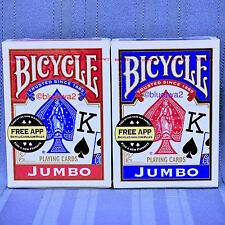BICYCLE JUMBO PLAYING CARDS 6 Standard SIX Decks - 3 BLUE And 3 RED Index 808
