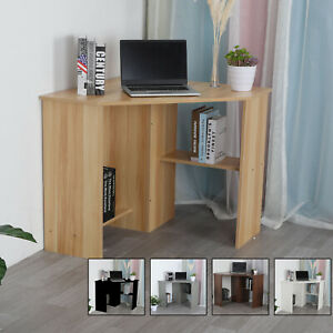 Corner Computer Desk PC Wooden Table Workstation Home Office Study Furniture