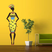 Full Color Wall Decal woman Africa lady tribe Ethiopia people Bedroom mcol7