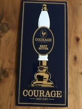 Unusual gift, genuine vitreous enamel genuine Courage brewers plaque, pub sign