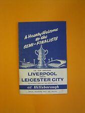 FA Cup Semi-Final - Liverpool v Leicester City - 27th April 1963