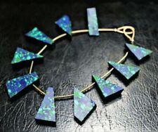 Natural Azurite Malachite Amazing Color Raw Beads 10 Pieces