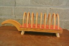 Vintage  Wooden 8 Toast Rack Table Serving Tray
