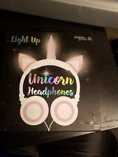 Gabba Goods Light Up Unicorn Wired Headphone Brand New In Box