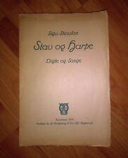 Stav Og Harpe by Sigvald Skavlan **Very Rare 1913 1st Ed Book of Psalms**
