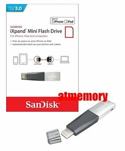 Sandisk 32GB 64GB 128GB 256GB iXpand Mini USB Flash Drive for iPhone/iPad IX40