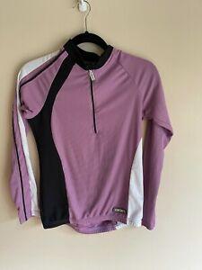 Canari L/S Purple Bike Jersey Small Medium 1/4 Zip