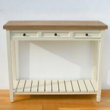 Painted Wood Shabby Chic Console Table with 3 Drawer and Shelf PR-CNL