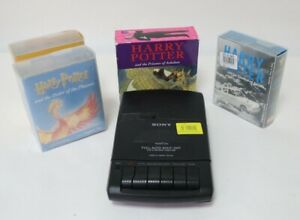 Bundle Of Harry Potter Cassette Audio Books By Stephen Fry With Cassette Player
