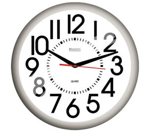 Springfield Casual Outdoor Clock Resin White