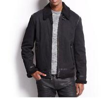 INC International Concepts Men's Jacket Sz XL Black Sherpa Cotton Bomber Jacket