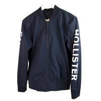 Hollister Blue Logo Sleeve Lightweight Men's Zipper Jacket size XS