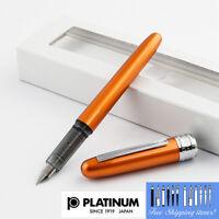Platinum Plaisir Fountain pen Fine Nib Orange body With Box PGB-1000#25-2 Japan