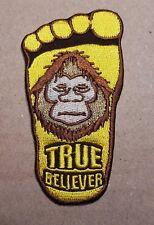 X Files Big Foot True Believer Gestickte Abzeichen 8.9cm Groß