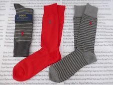 Polo Ralph Lauren Exquisite Sock Signature Stripe Mix Navy Cotton 3pk Socks 16c1b08be7f3