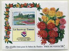 FRANCE TIMBRE NEUF BLOC   N° 16  **  PARC FLORAL DE PARIS ET DAHLIAS