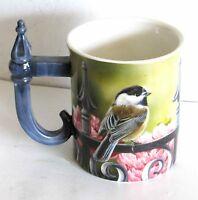 Backyard Beauty Chickadee Wild Wings Embossed Mug Cup Rosemary Millette FREE SH