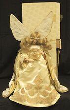 "Franklin Heirloom White Christmas Angel Doll 19"" Blond Gold Trim Christmas Box"