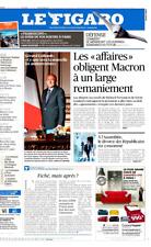 Le Figaro 21.6.2017 N°22663*MACRON ajuste*Guerre aérienne FUTUR*Fiché? Sécurité?